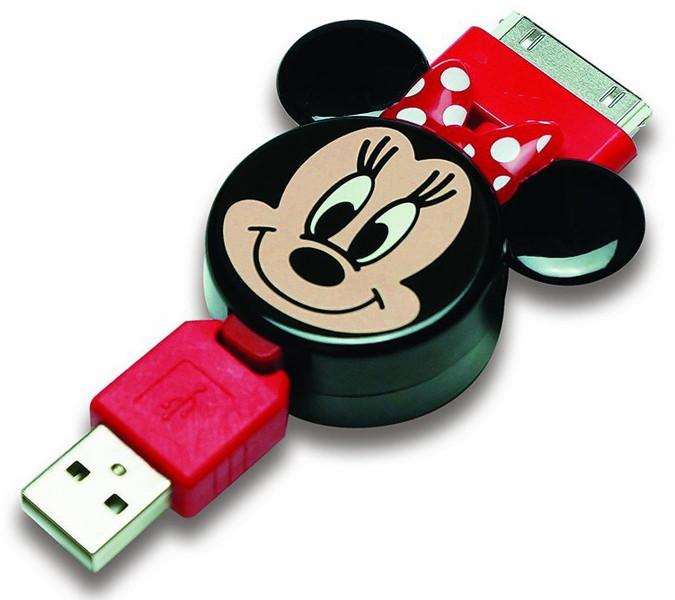 PGA Disney iPhone iPod用巻き取り式充電ケーブル ミニーマウス PG-DNYJU560MNE