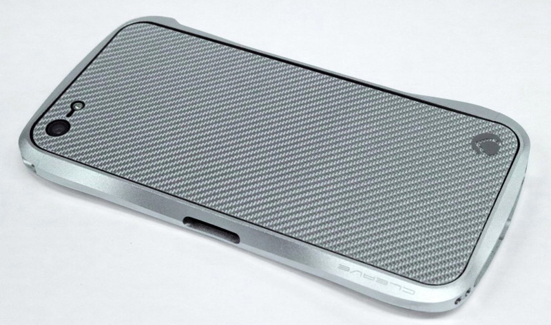 Deff Carbon Plate for iPhone5 シルバーカーボン DCP-IP50CSV/B