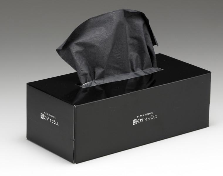 黒のティッシュ160W