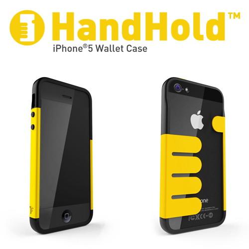 iPhone5/5s専用 マネークリップ機能付きケース Felix HandHold ブラック/イエロー