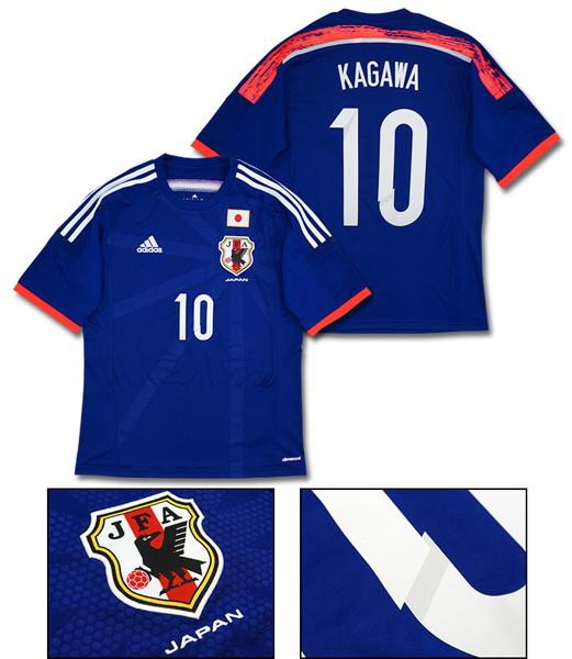【No.10 KAGAWA(香川真司)】adidas 2014 日本代表 ホーム 半袖 レプリカ ユニフォーム [Lサイズ]