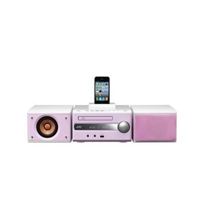 JVC iPod Dock搭載コンパクトコンポーネントシステム (ピンク)...