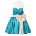 ガールスタイル ミニドレス ブルー