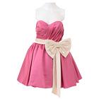 ガールスタイル ミニドレス ピンク