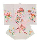 【ベビー】お宮参り 正絹 女のしめ 濃淡 花々 ピンク