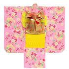 【キッズ】七五三/節句 7才 着物セット 桜模様 華やか ピンク