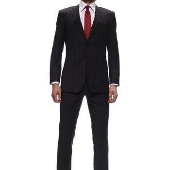 ポール・スミス スーツ ストライプ ブラウン