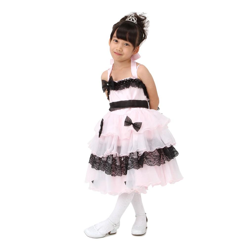 【キッズ】シルフィード ミディアムドレス ピンク