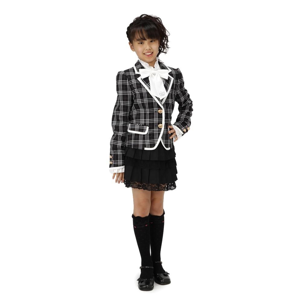 【ジュニア】Cutie Ribbon スーツ ブラック