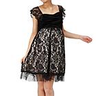 マタニティドレス フリル袖付き ブラック
