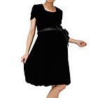 マタニティドレス 袖バルーン型 ブラック