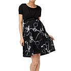 マタニティドレス 刺繍ブルー ブラック