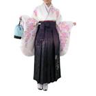 ラインストーン付き桜柄袴セット ホワイト