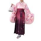 桜柄袴セット ピンク