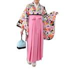 カラフル花柄袴セット ピンク