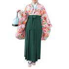桜花柄袴セット ピンク系