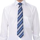 f-mode マルチストライプ柄ネクタイ ブルー