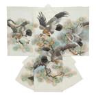 【ベビー】お宮参り 正絹 男のしめ 鷹 金刺繍 ホワイト