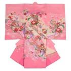 【ベビー】お宮参り 正絹 女のしめ 牡丹 桜 ピンク