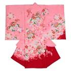【ベビー】お宮参り 正絹 女のしめ 小太鼓 折鶴 ピンク