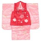 【キッズ】七五三/節句 3才 被布セット 絞鹿 小桜 ピンク