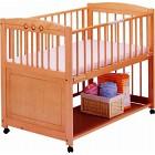 サワベビー F型アーブル ナチュラル ベビーベッド 安心 アレルギー対策ベッド