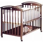 サワベビー K型ローワン ダークブラウン ベビーベッド 安心 アレルギー対策ベッド