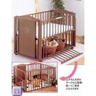サワベビー L型ギーア チャコールブラウン ベビーベッド 多機能ベッド 変形ベッド