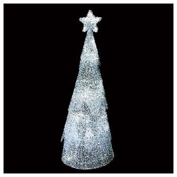 100cm LEDクリスタルコーンツリー(ホワイト)