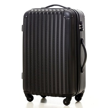 【4~7泊】Travel house 軽量 TSAロック付き 4輪 63L スーツケース ブラック