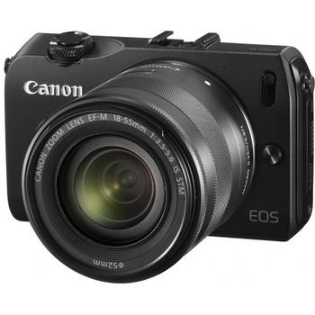【キヤノン/イオス】1800万画素 ミラーレス一眼カメラ EOS M ダブルレンズキット