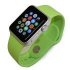 Apple Watch Sport 38mm シルバーアルミニウムケース/グリーンスポーツバンド