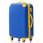 【8〜14泊】Travel house 軽量 TSAロック付き 4輪 93L スーツケース ブルー&イエロー