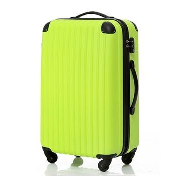 【8~14泊】Travel house 軽量 TSAロック付き 4輪 93L スーツケース グリーン&ブラック