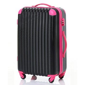 【8~14泊】Travel house 軽量 TSAロック付き 4輪 93L スーツケース ブラック&ローズ