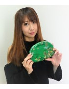 ☆結月こころ 直筆サイン入り龍柄ポーチ(緑)☆