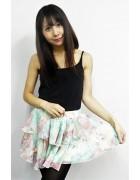 ☆結月こころ 直筆サイン入りふわふわオーガンジースカート(エメラルド×ピンク)☆