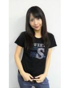 ☆結月こころ 直筆サイン入りスワロ半袖Tシャツ(ブラック)☆