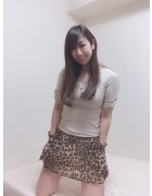 井村麻美 サイン入り レオパードミニスカート