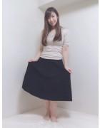 井村麻美 サイン入り ブラックロングスカートW