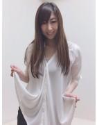 井村麻美 サイン入り ホワイトシフォンシャツ