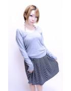 松岡奈々☆ボーダースカート