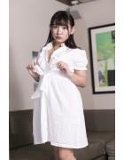 椿 理穂 最新DVD「美少女伝説 マシュマロリ」で着用した白いワンピース