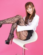 葵えりか☆直筆サイン入り写真&撮影衣装(ブラック×ストッキング)