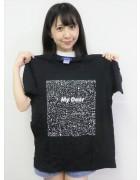 ☆結月こころ 直筆サイン入り点々四角プリント半袖Tシャツ(黒×白)☆