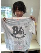 URAGAWA・ゆうと直筆サイン入り【8周年】Tシャツ