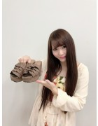 ★直筆サイン入り★愛沢紗羅ちゃん愛用☆茶フリルサンダル(Lサイズ)