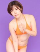 皆月なる☆直筆サイン入り写真&撮影衣装(オレンジ)