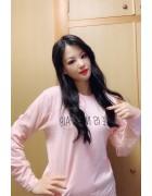 春月英未莉さんが愛用したピンクのロングTシャツ。