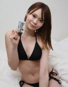 桐生もえこ☆直筆サイン入り写真&直筆サイン入り撮影衣装(ブラック)